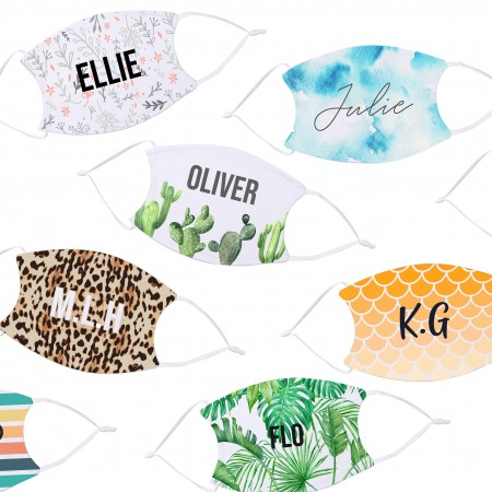 Personalised Initials Face Mask - 20+ Design Options