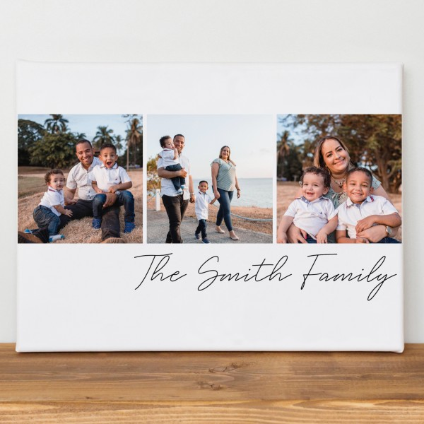 Photo and Text Collage Canvas Gift