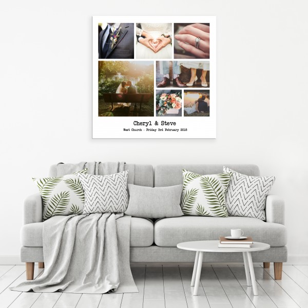 Photos and Text Canvas