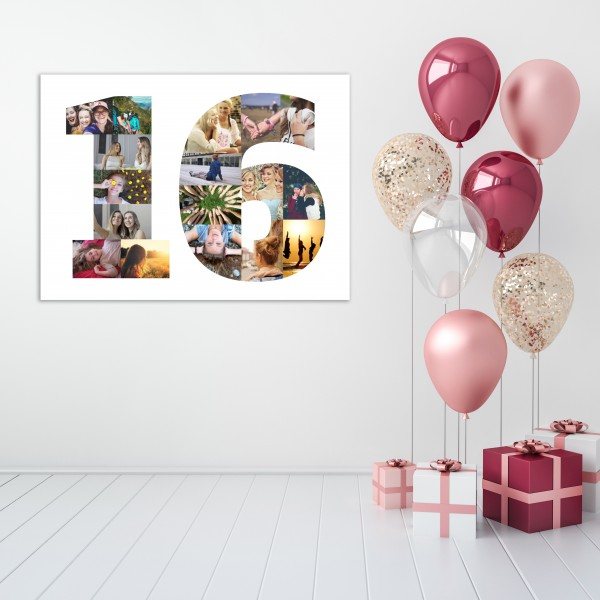 Age Number Photo Canvas - Adults