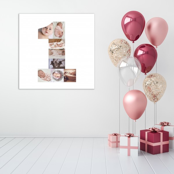 Kid's Birthday Canvas - Number