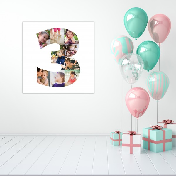 Age Number Photo Canvas - Children