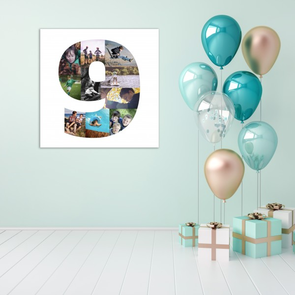 Children's Number Collage Canvas