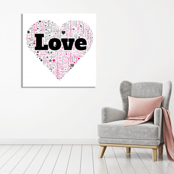 Word Art Canvas - 85% OFF WITH LOVE85