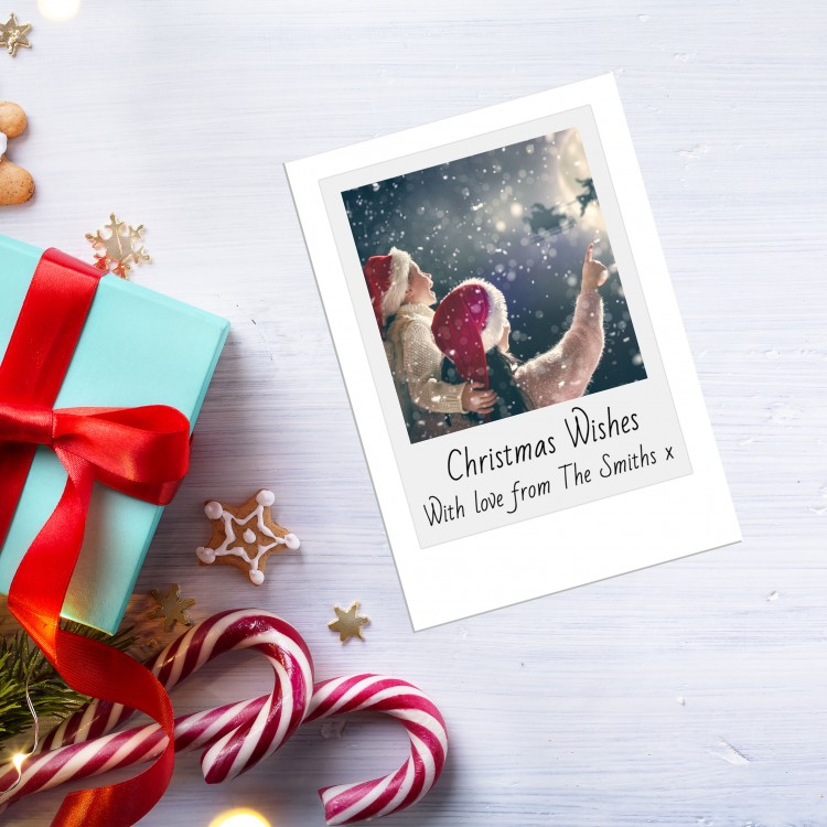 Design your own Christmas Card Pack - Flat A5 - Polaroid Style