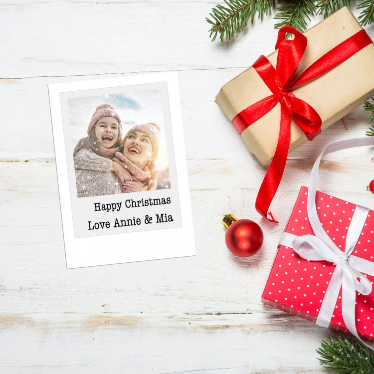 Design your own Christmas Card Pack - Flat A6 - Polaroid Style