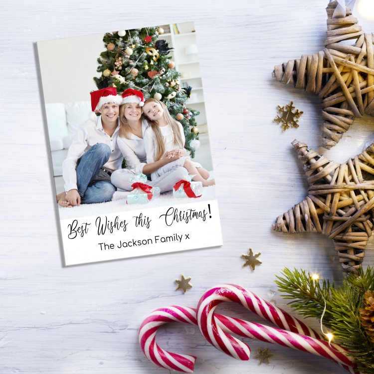 Design your own Christmas Card Pack - Flat A5 - Add your photo.