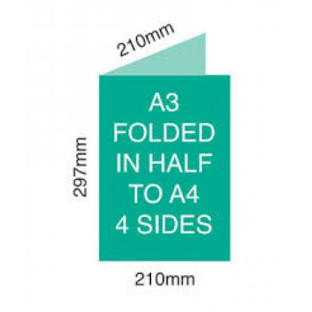 A3 Folded - double sided -130 gsm