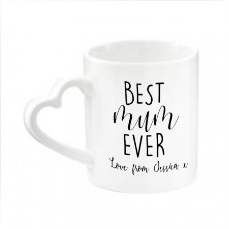 Personalised Mug - Heart Shaped