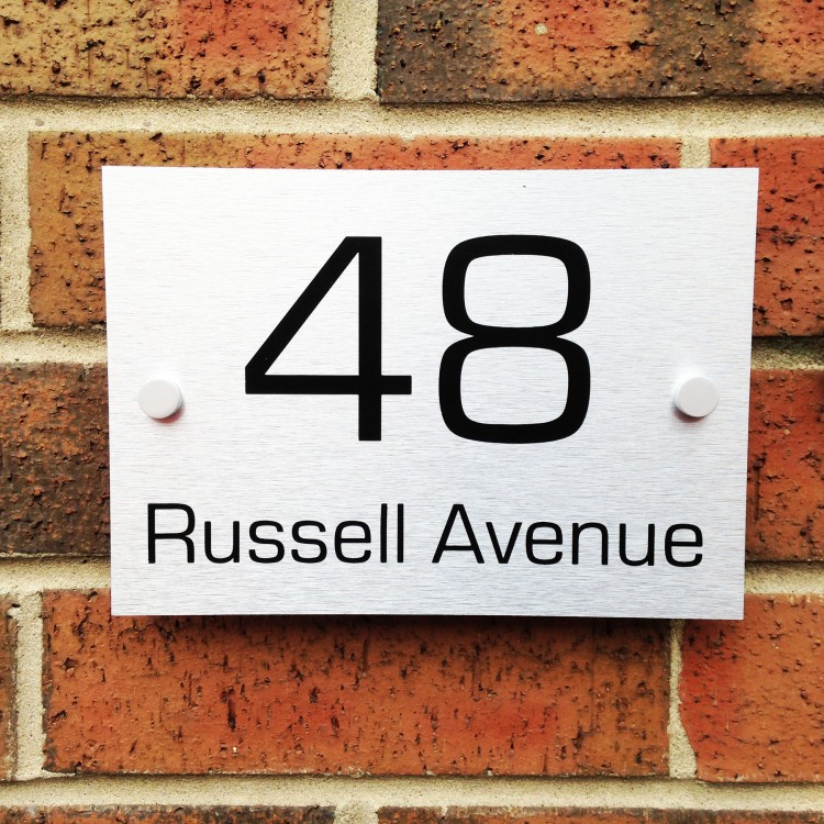 Aluminium House Sign