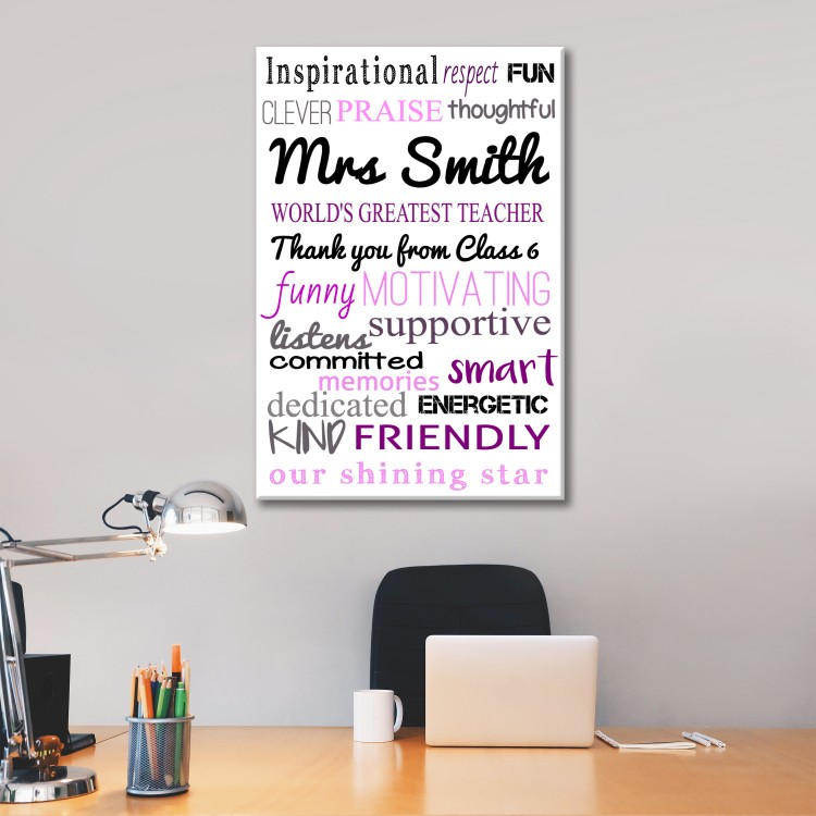 'World's greatest Teacher' Typography Canvas  - Now from £5.95