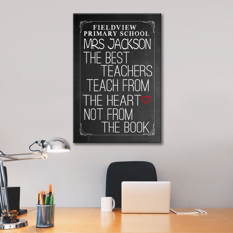 Chalkboard  Typography Canvas - Now from £5.95