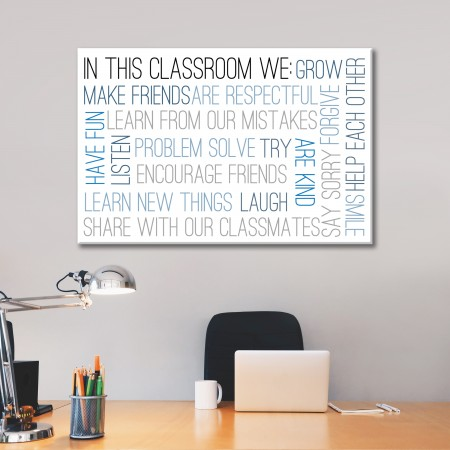 'In This Classroom' Typography Canvas