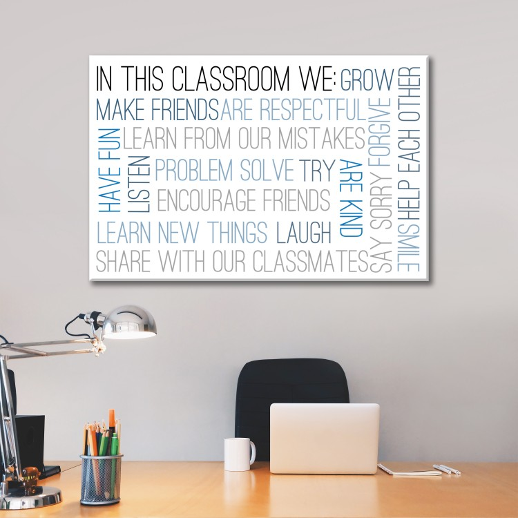 In This Classroom Typography Canvas