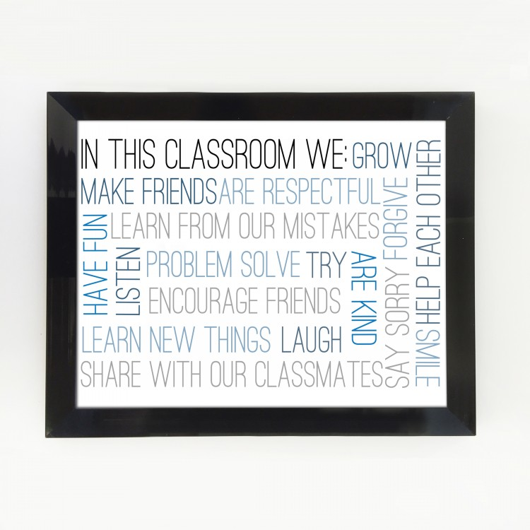 In This Classroom Typography Poster