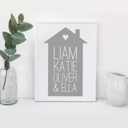 House Portrait Typography Poster