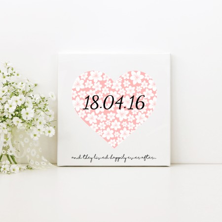 Wedding - Square Typography Canvas