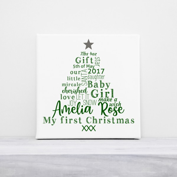 First Christmas Typography