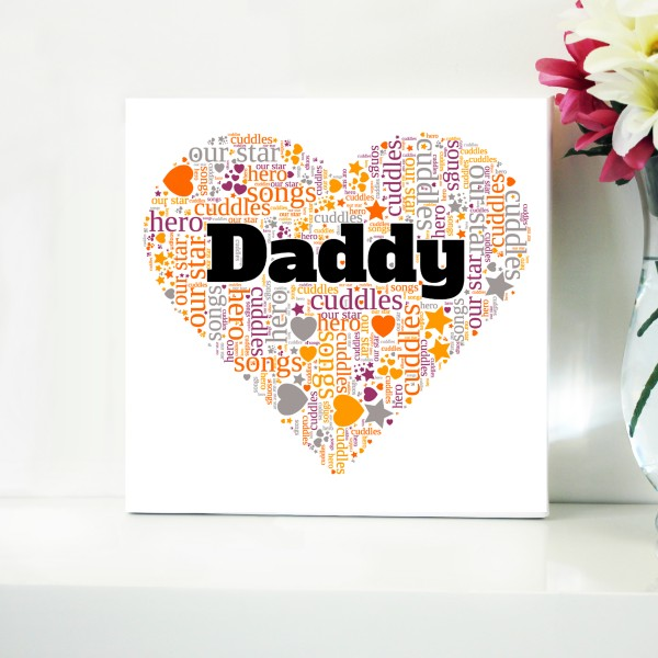 Word Art Canvas - Use code DAD85