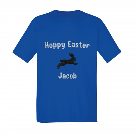 Personalised Kid's Easter T Shirt - Hoppy Easter