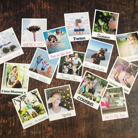 Ultra Thick Retro Photo Print Cards - Pack Of 15