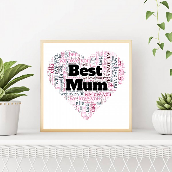 Word Art Posters for Mum