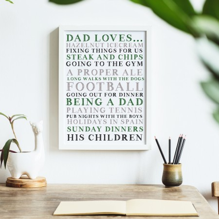 Dad Loves... Typography Poster
