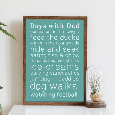 Days with Dad Typography Poster
