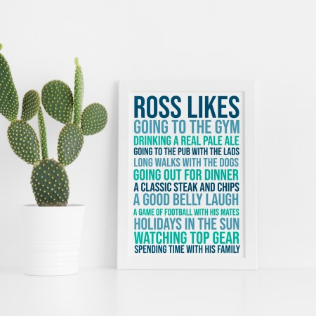 Likes Typography Poster