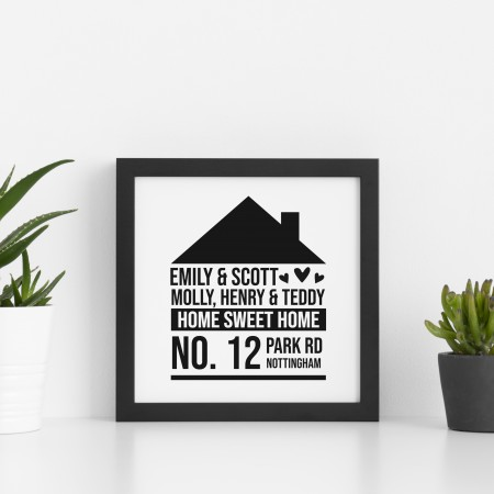 Home Square Typography Poster