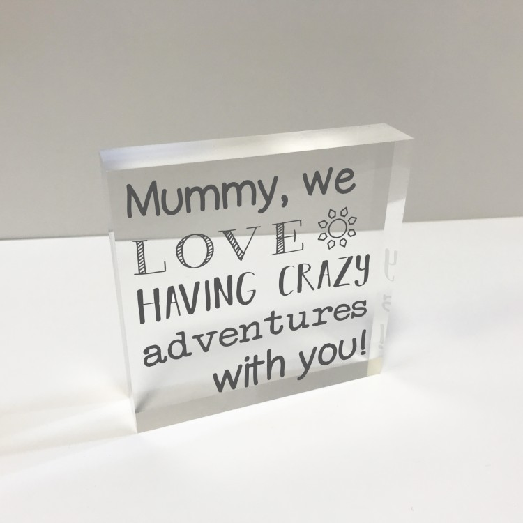4x4 Glass Token - Mum Adventures  75% off - now £9.99