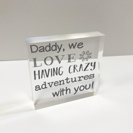 4x4 Glass Token - Dad adventures