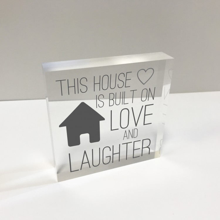4x4 Glass Token - This House is....