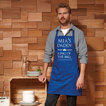 Personalised Apron Adult - Blue