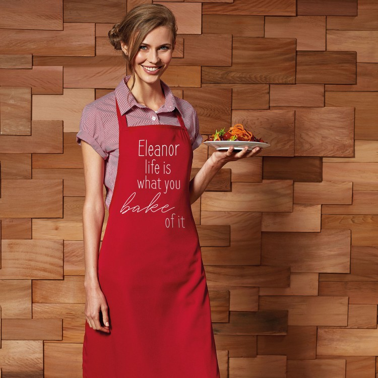 Personalised Apron Adults - Red