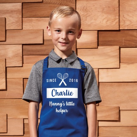 Personalised Apron Child - Blue