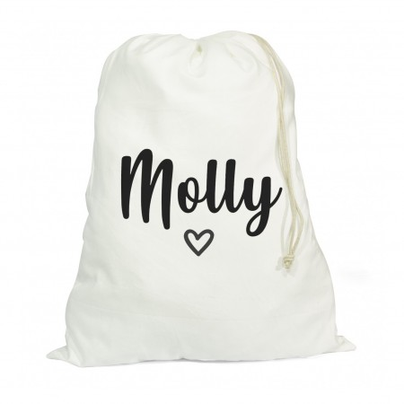 Personalised White Drawstring Bag