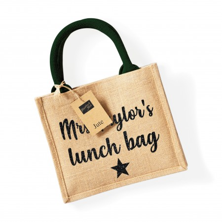 Personalised Mini Jute Bags - Various colours