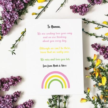 Sending love Flat Cards - Pack Of 8