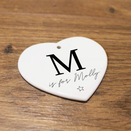 Personalised Ceramic Heart - Initals