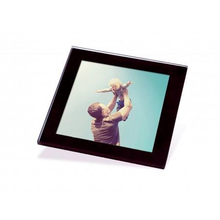 Black Glass Photo Coaster