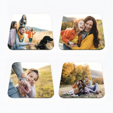 Set of 4 Photo Coasters- Square