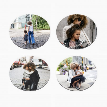 Set of 4 Photo Coasters- Round