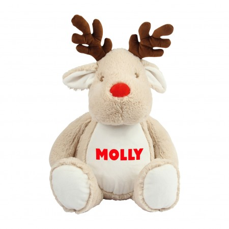 Personalised Reindeer Zippie