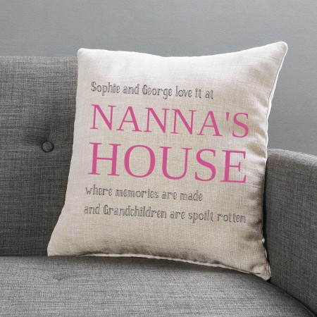 Personalised Cushion -  Large Linen