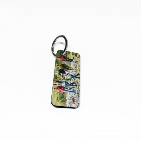 Photo Keyring- Wooden Panoramic Rectangle