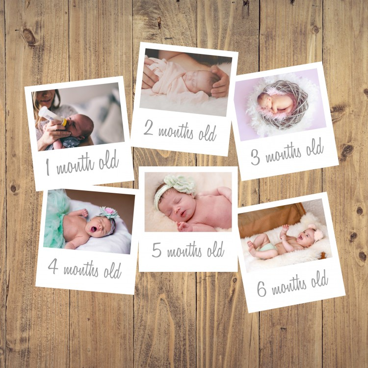 Personalised Baby Photo Months - Pack of 6