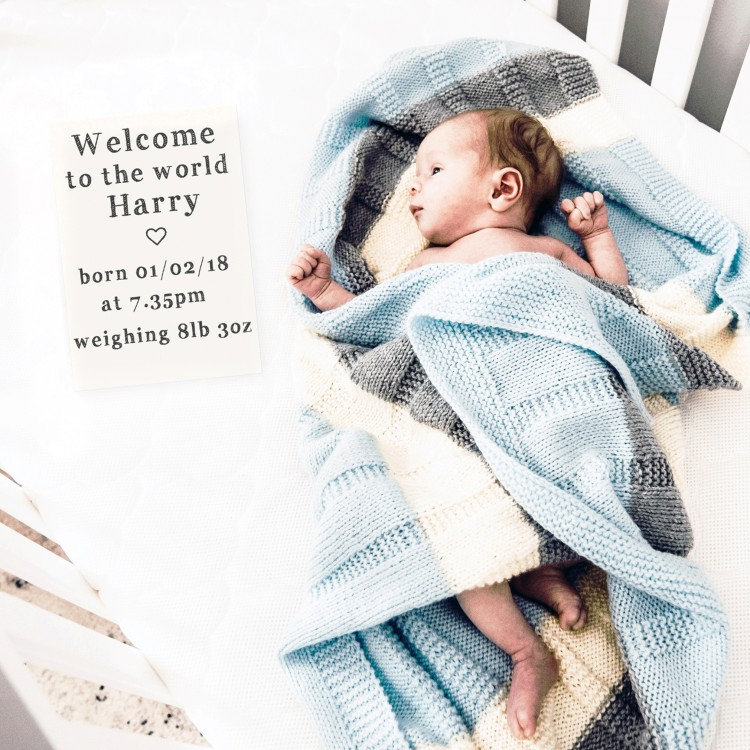 Personalised Baby Milestone Cards- Design 1