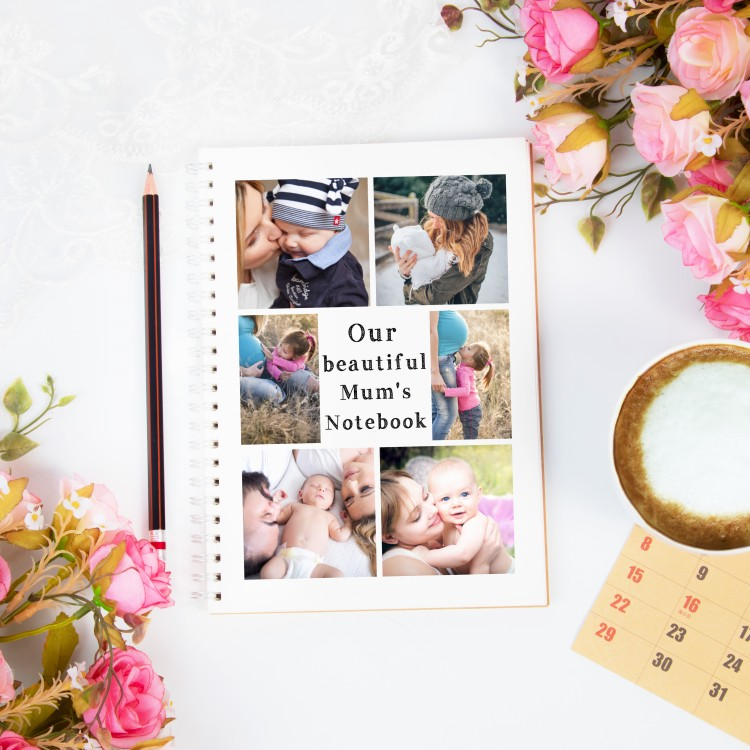 Personalised Photo Notebook - 6 Photos and text