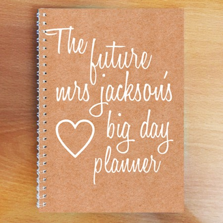 Personalised Photo Notebook - Wedding Planner A4